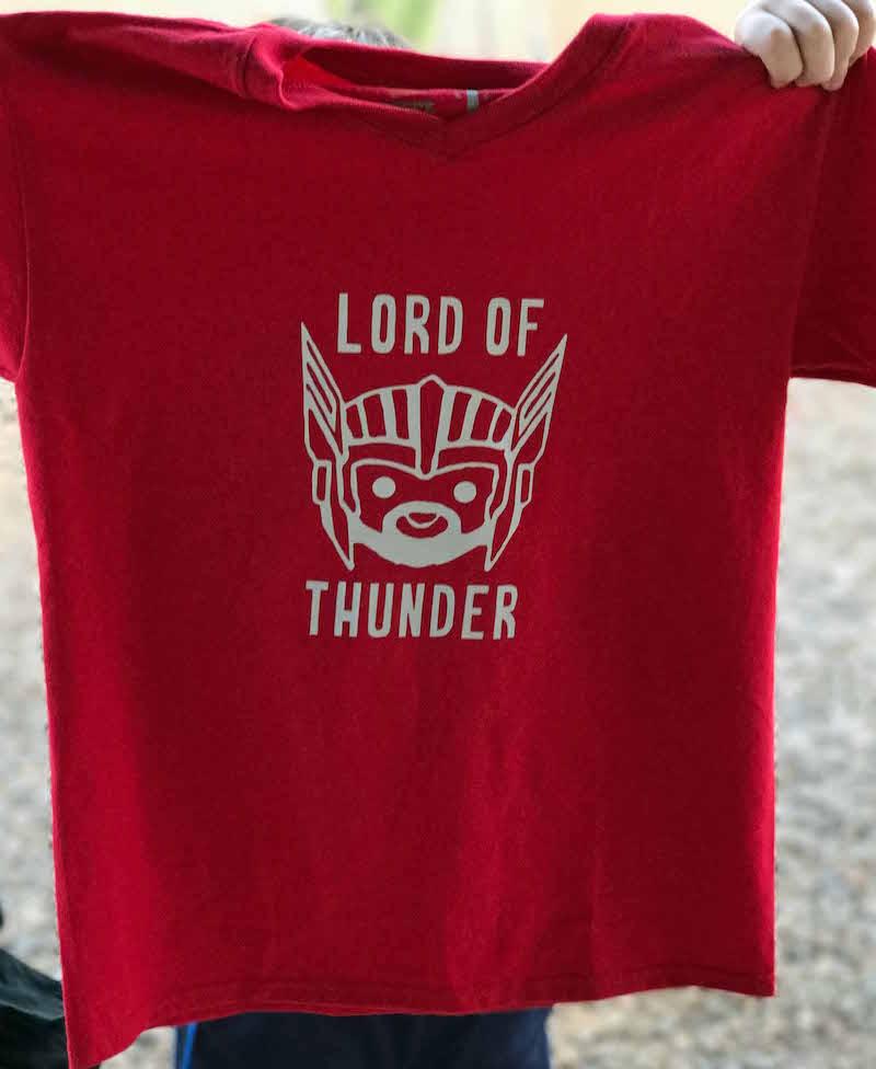 Lord of Thunder Funny Thor Shirt Idea