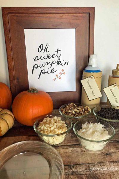 Pumpkin Pie Toppings Bar