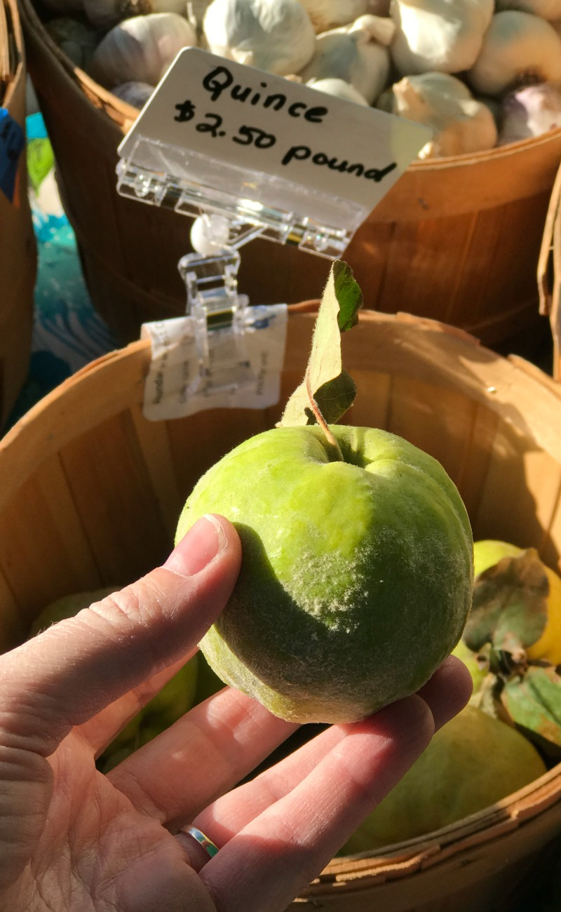 Quince available at farmers market in Tucson