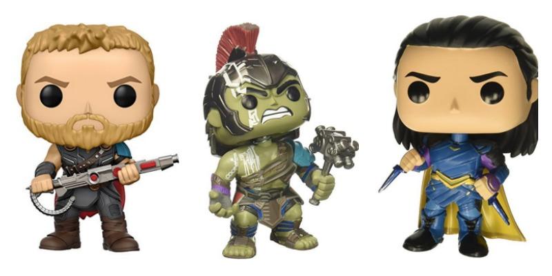 Thor Ragnarok Pop Figures Thor, Hulk and Loki