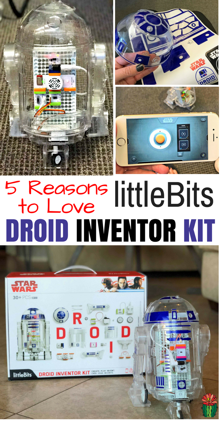 Don't miss the perfect gift for a Star Wars fan or STEAM loving kiddo. The littleBits Droid Inventor Kit is fun for the whole Star Wars loving family.