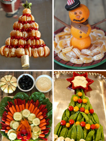 Fun and Festive Holiday Fruit and Veggie Platters