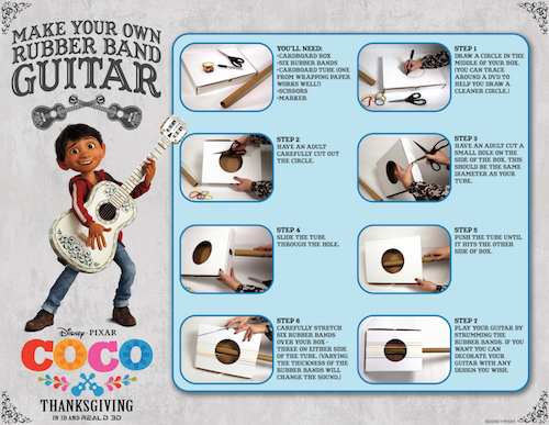 Disney Coco Guitar Instructions