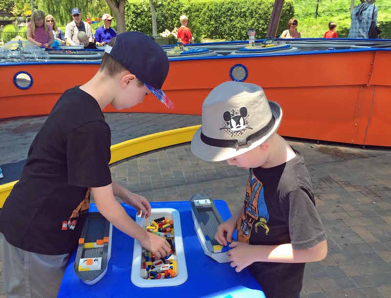 Family Activites in Southern California include building and racing LEGO boats at LEGOLAND California