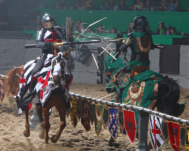 Jousting at Medieval Times Buena Park is just one of the awesome things to do in southern Caifornia with kids