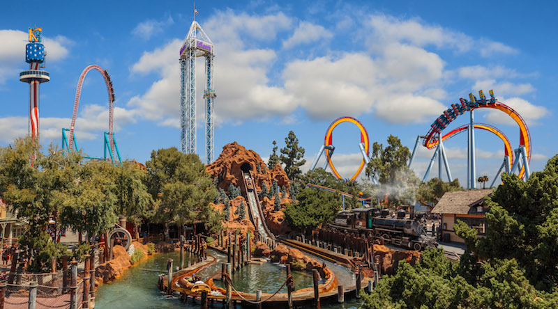 Knott's Skyline with lots of fast ride make it a great park and one of the best family activities in southern California for the whole family