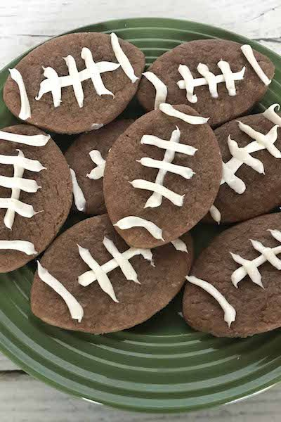 Easy Chocolate Football Cookies