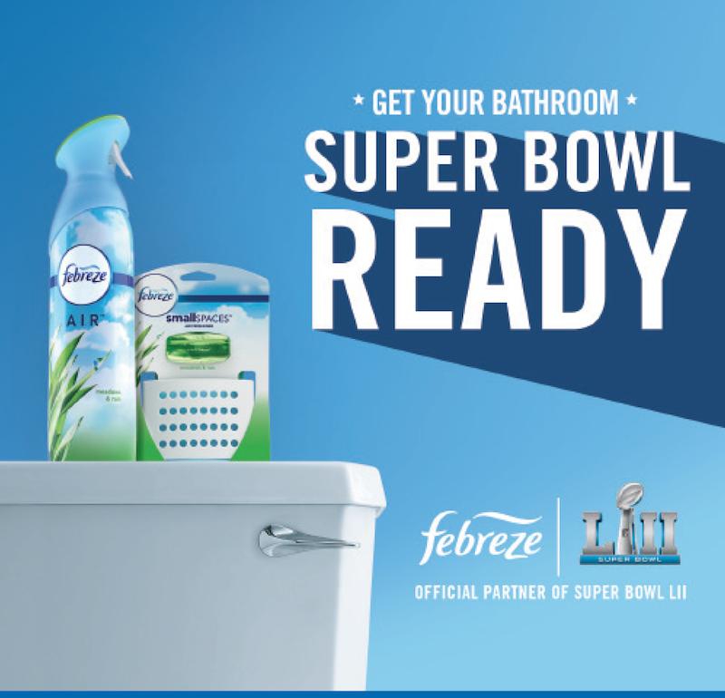 Get your bathroom super bowl ready febreze