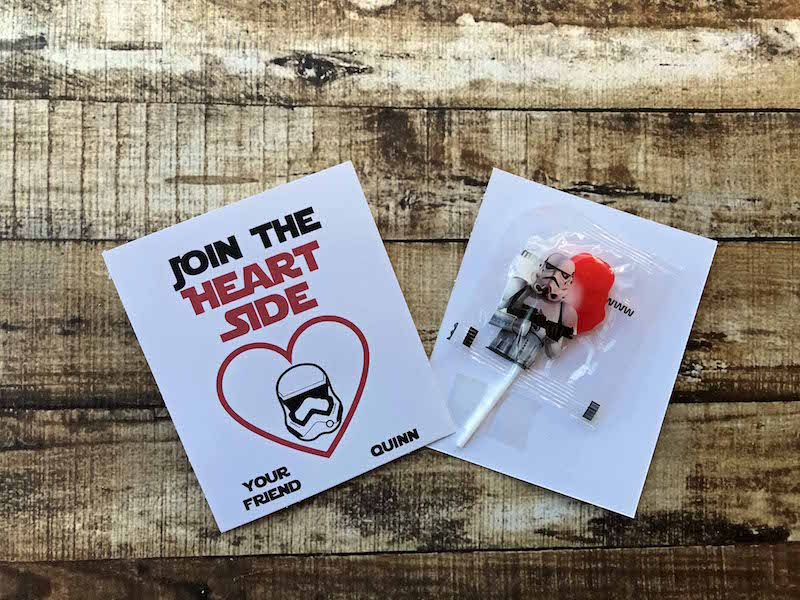 Join the Heart Side Printable Star Wars Valentines Cards
