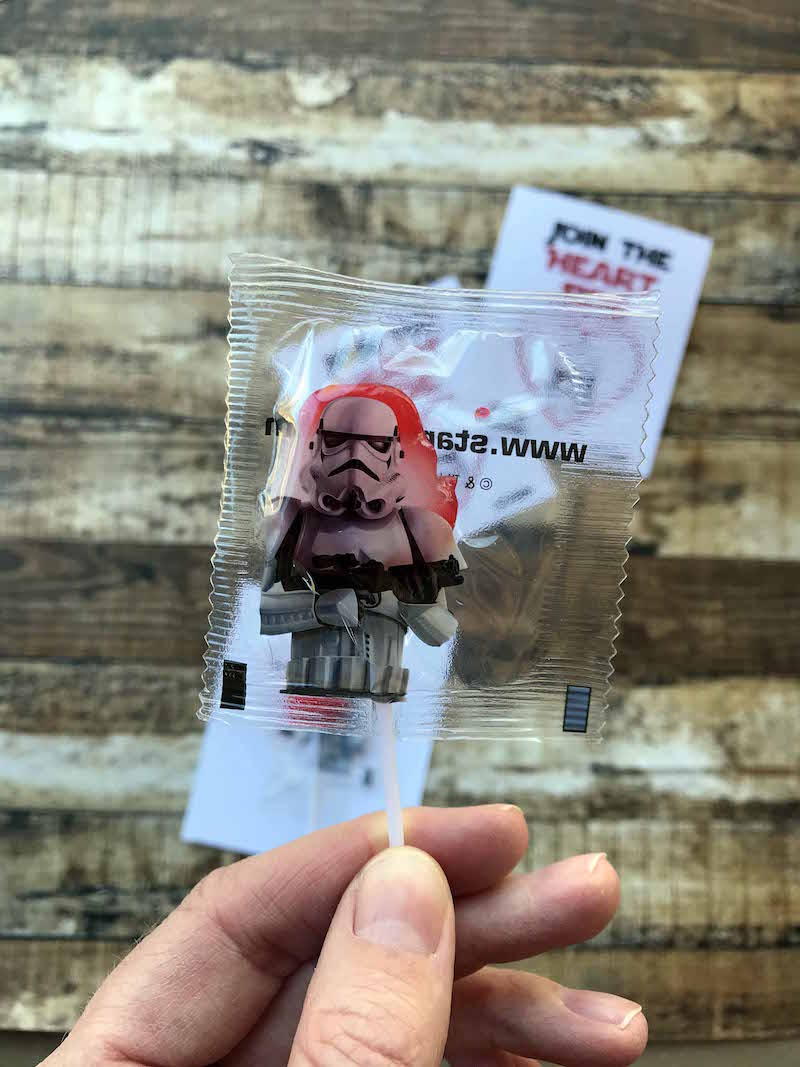 Star Wars lollipops for printable star wars valentines cards
