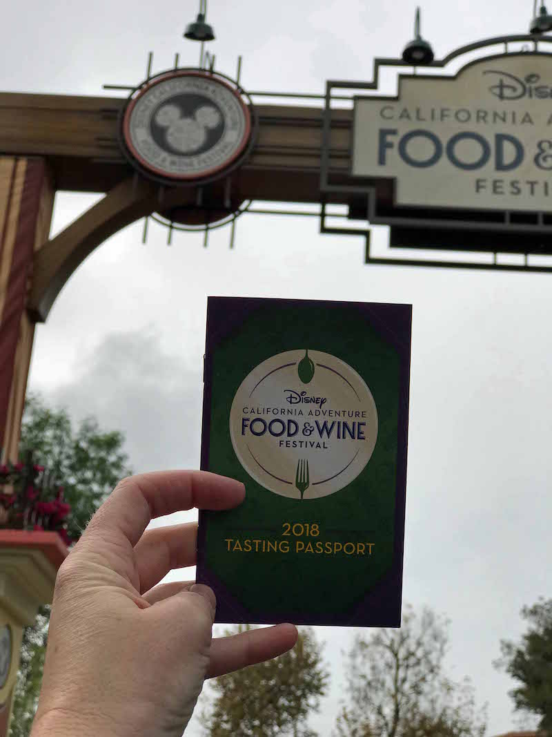 Disneyland Food and Wine Festival 2018 Tasting Passport