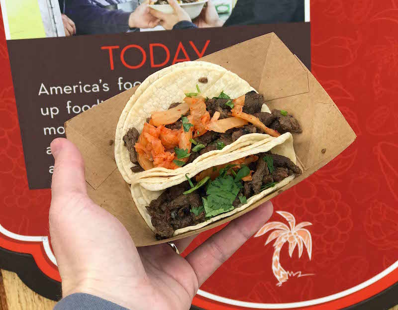 Korean BBQ Beef Short Rib Tacos at LA Style during the 2018 Disney California Adventure Food and Wine Festival