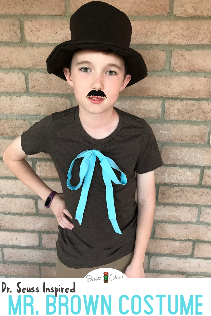 Mr Brown Costume For Dr Seuss Day Desert Chica