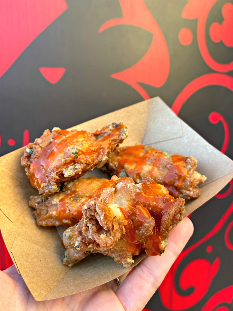 Ranch Fried Chicken Wings from Cluck-a-doodle-moo booth at 2020 Disney California Food and Wine Festival