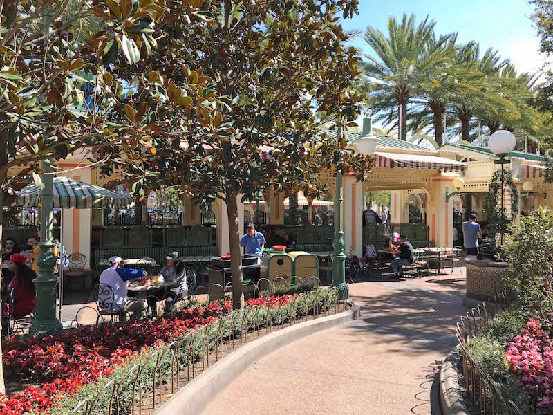 Seating on Paradise Pier for the 2018 Disney Food and Wine Festival