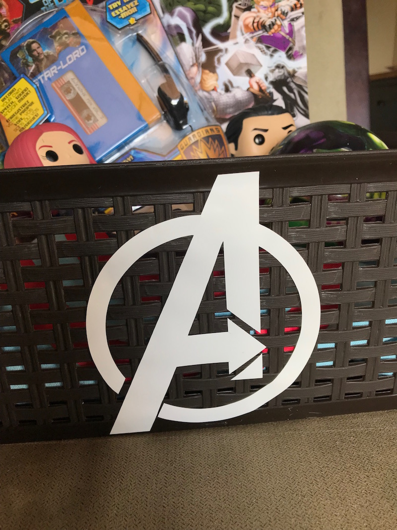 Superhero themed Avengers Easter basket filled with your kids favorite avenger stuff