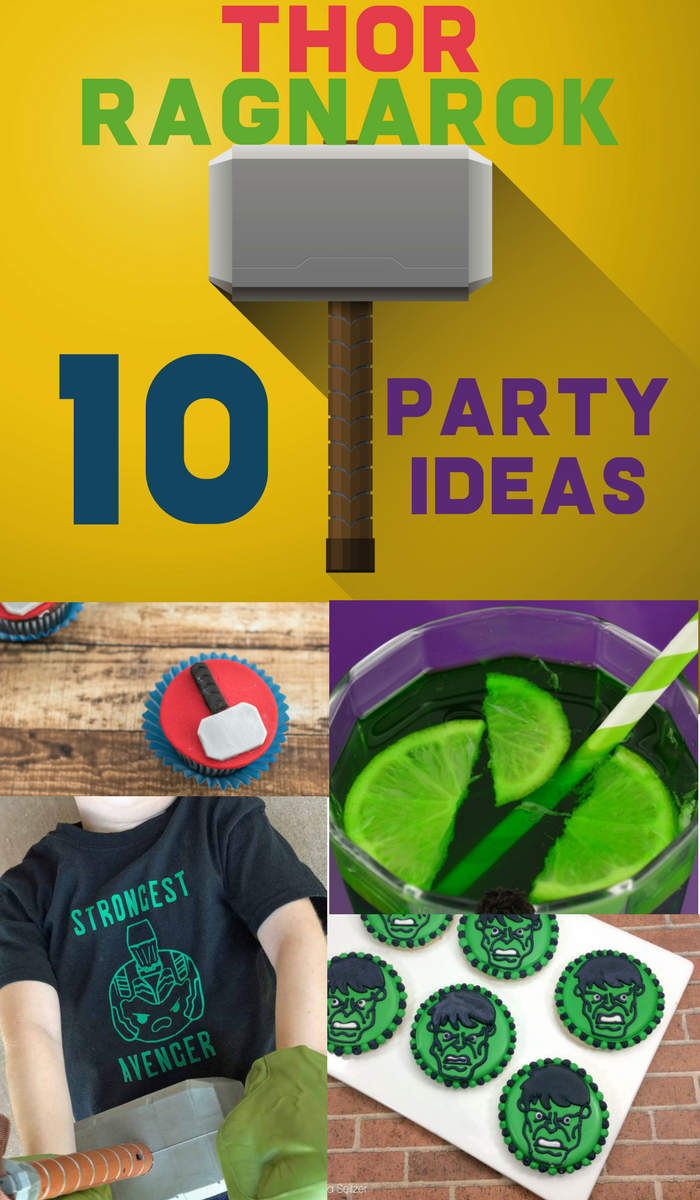Are you ready to host a Thor Ragnarok movie watching party or fun Thor Ragnarok birthday party? Check out these easy DIY party ideas for any Marvel comic fan including fun Hammer ideas and a super easy Hulk cake. There's plenty of fun recipe and activity ideas. It's a perfect way to prep for the next Avengers movie as well! Also, don't miss links to my experience at the Thor Ragnarok red carpet premiere last fall!