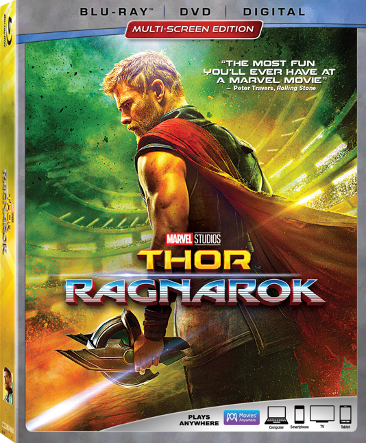 Thor Ragnarok Party Ideas include watching Thor Ragnarok on Blu-ray