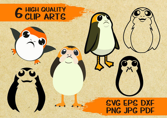 Porg Clipart files to download for projects like porg shirts and porg star wars easter basket
