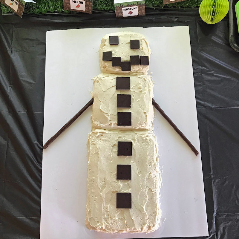 Easy Minecraft Cake Idea Desert Chica