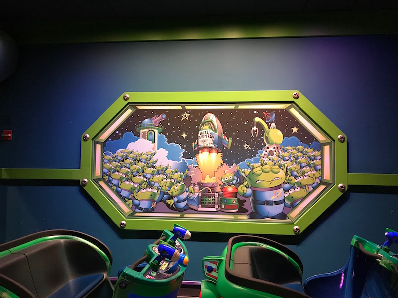 Ride Buzz Lightyear Astro Blasters during the Pixar Fest Scavenger Hunt at Disneyland