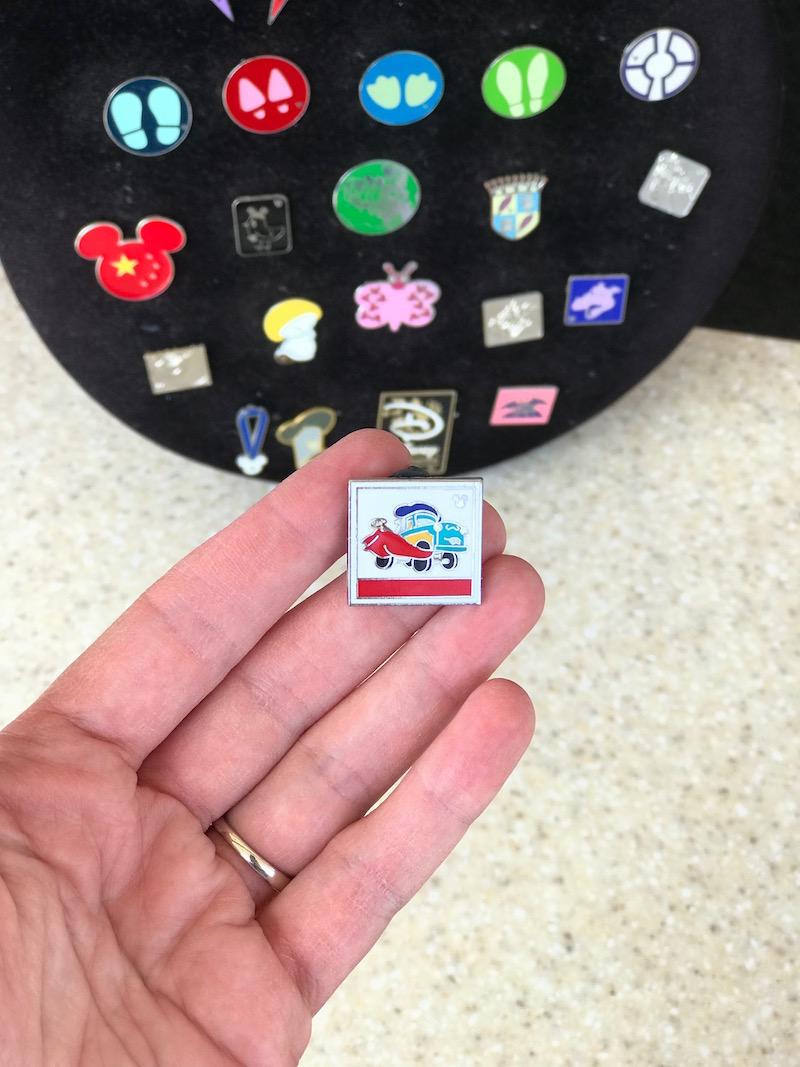 Trade for a pixar pin on the Pixar Fest Scavenger Hunt at Disneyland