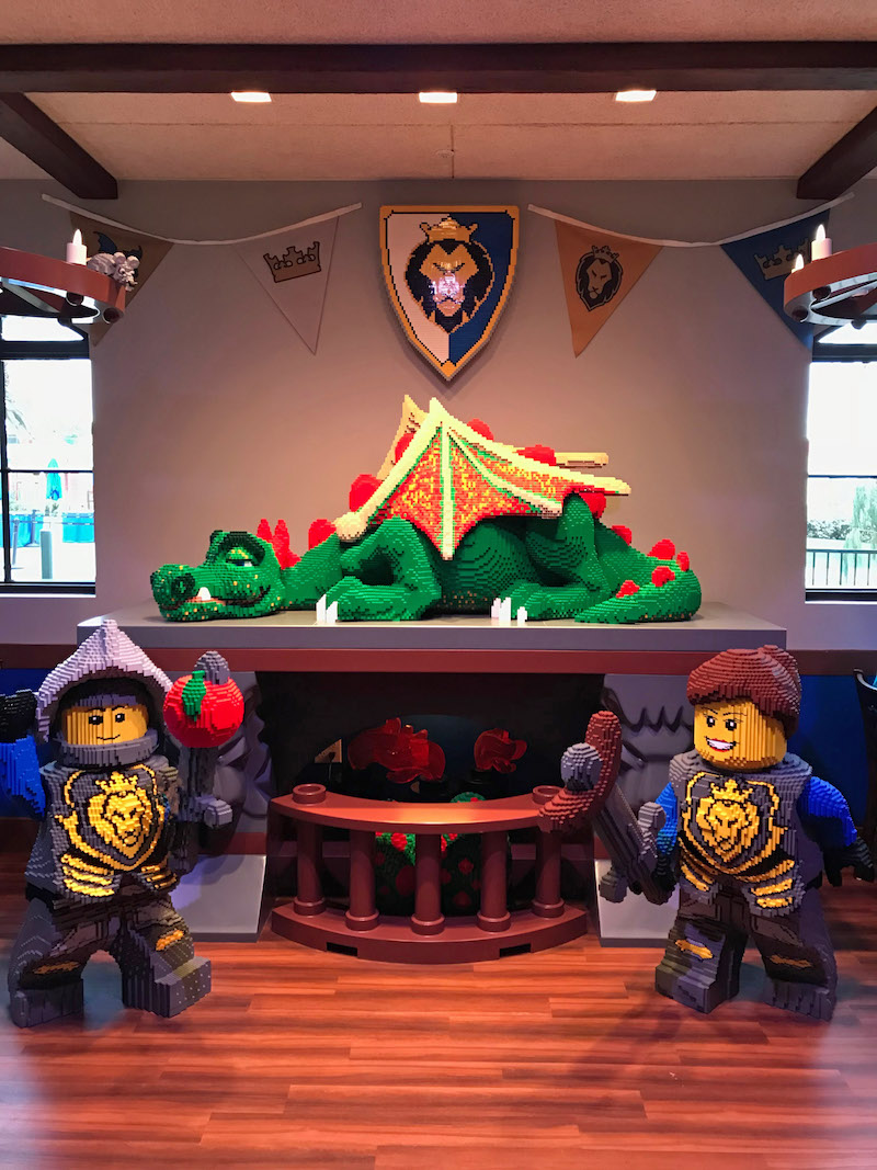 Don't wake the sleeping dragon in the Dragon's Den restaurant at the LEGOLAND Castle Hotel