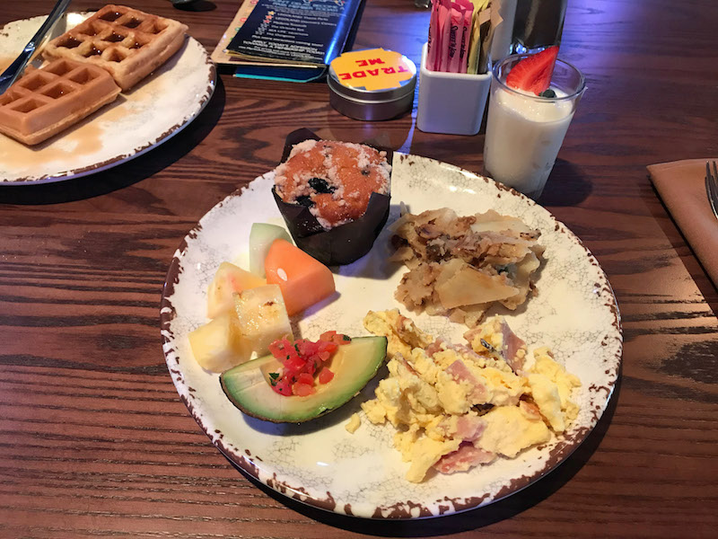 Free breakfast at the Dragon's Den Restaurant at the LEGOLAND Castle Hotel