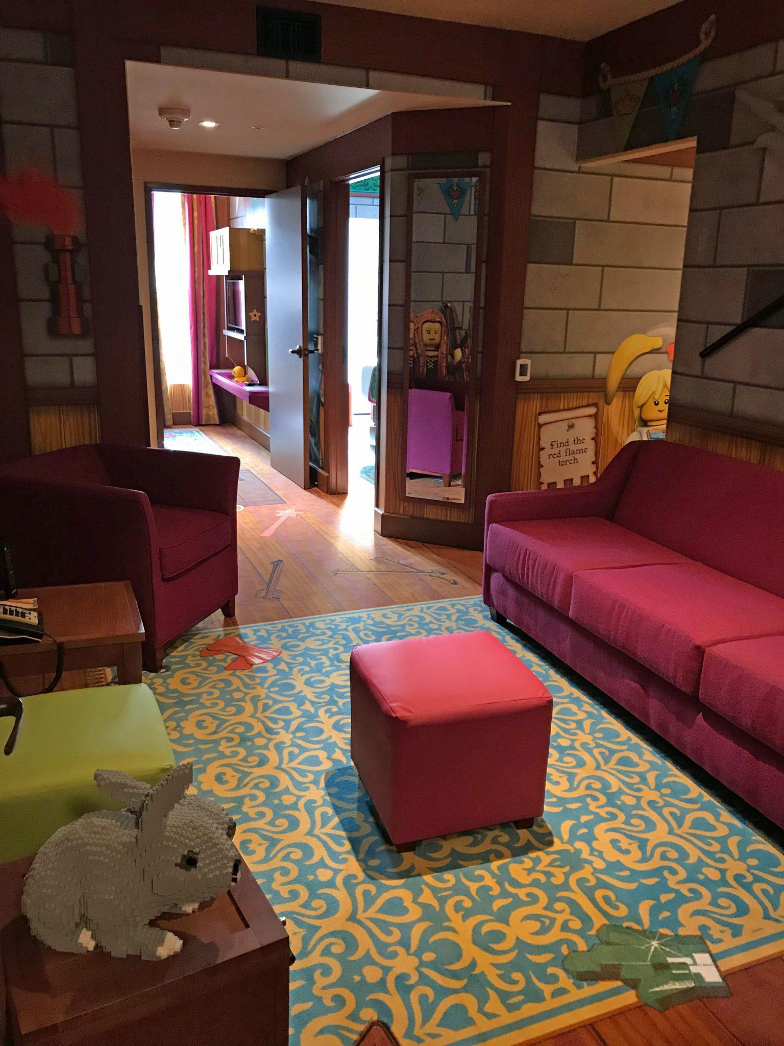 LEGOLAND Castle Hotel Suite sitting area