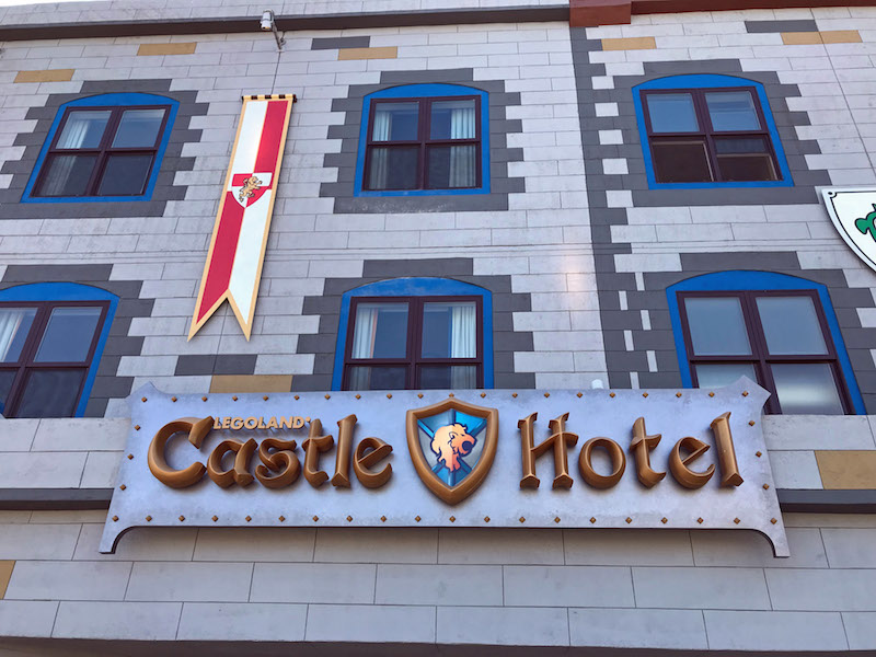 LEGOLAND Castle Hotel at the entrance to LEGOLAND California