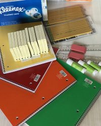 Pick up extra school supplies to helps schools and be a classroom hero