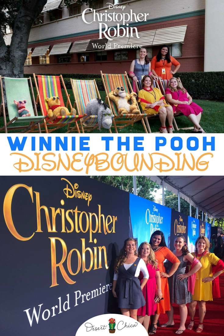 Looking for fun Winnie the Pooh Disneybound ideas for Dapper Day? Our disneybounding ideas for the Christopher Robin Red carpet are less casual than a typical Disney Parks idea and would also work great for friends going to prom. We have Winnie the Pooh, Piglet, Tigger, Eeyore and Christopher Robin represented. #Disneybound #Disneybounding #Disney #Fashion