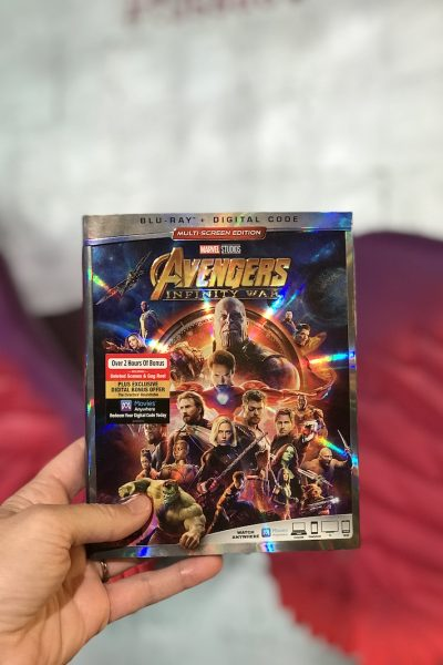 Avengers Infinity War Blu-Ray at Madame Tussauds Hollywood