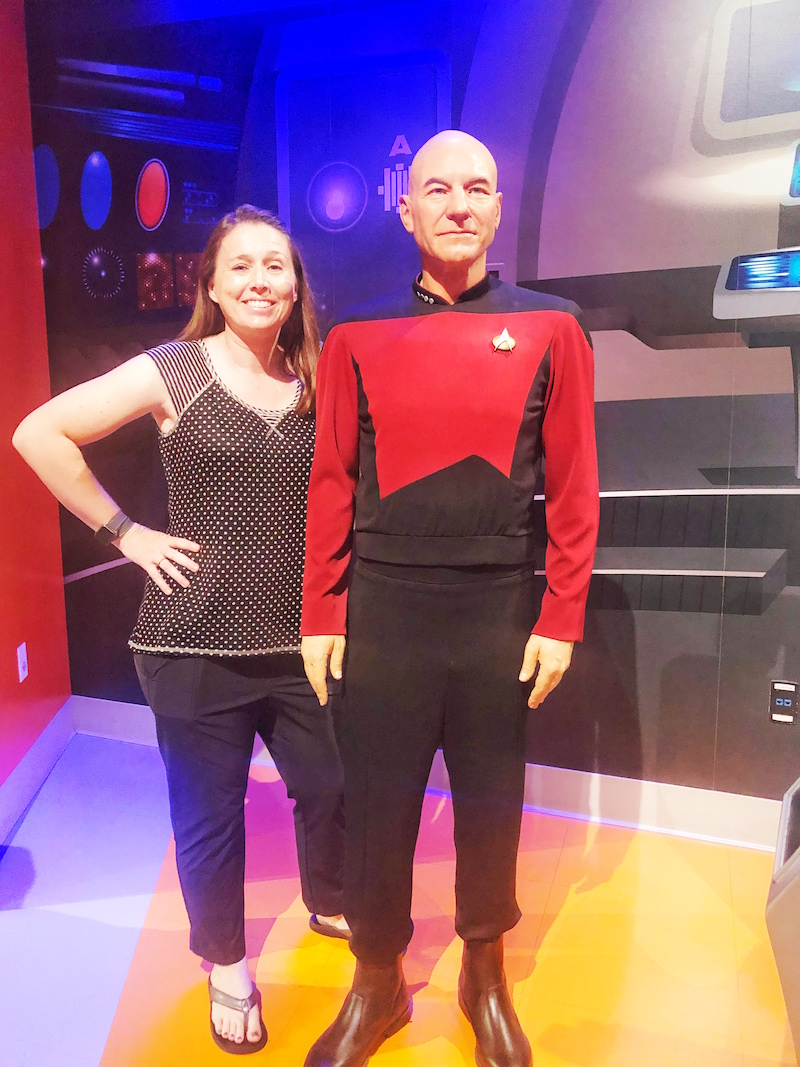Captain Jean Luc Picard Star Trek exhibit at Madame Tussauds Hollywood
