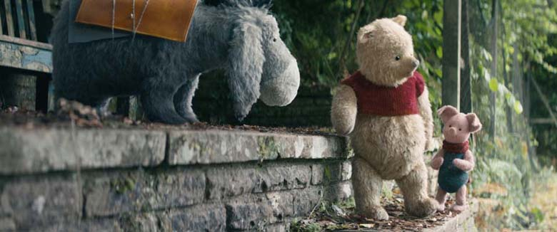 Eeyore, Pooh and Piglet in Disney's live-action adventure CHRISTOPHER ROBIN.