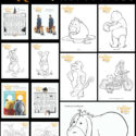 Don't miss these exclusive Winnie the Pooh and friends coloring pages and free printable activities perfect for kids of all ages from toddlers to adults. They include everyone from the 100 Acre Wood include Christopher Robin, eeyore, pooh, piglet, tigger, kanga, roo, owl and rabbit.