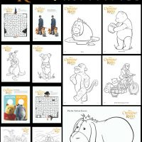 Christopher Robin Coloring Pages and Activities