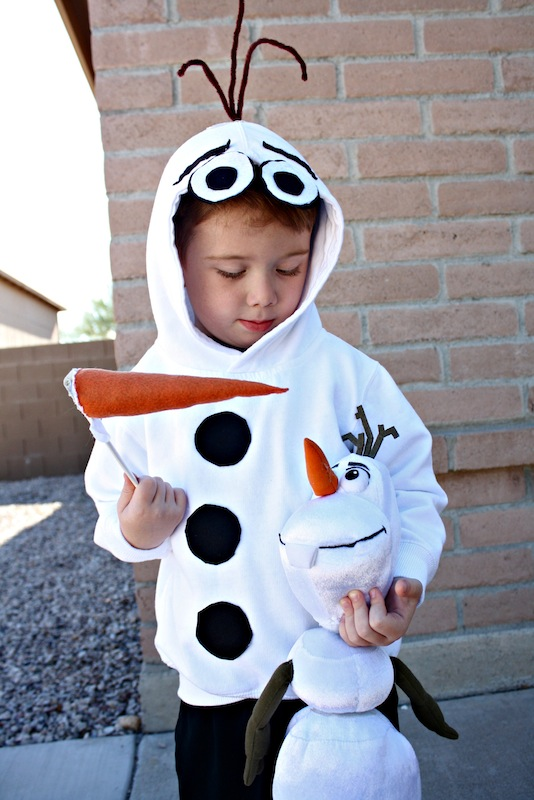 DIY Olaf Costume is an adorable diy Disney costume idea listed in the Ultimate List of DIY Halloween Costumes