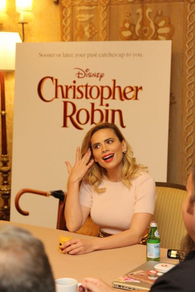 Hayley Atwell Interview for Christopher Robin #ChristoperRobinEvent