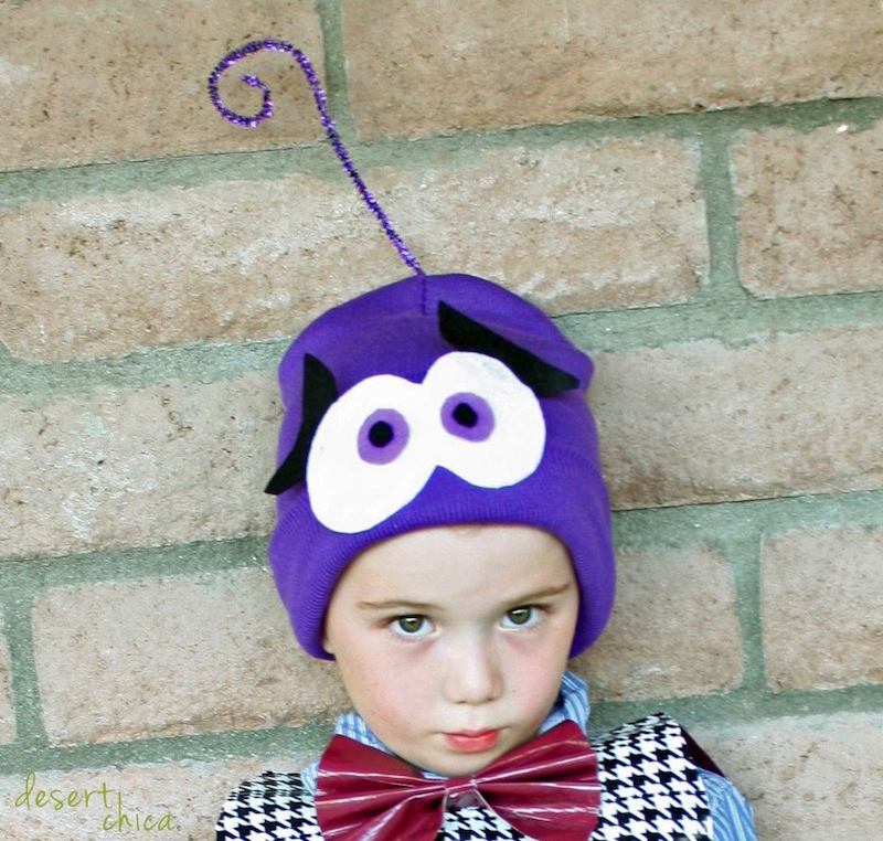 Homemade Fear from Inside Out Costume from the Ultimate list of Easy DIY Costumes