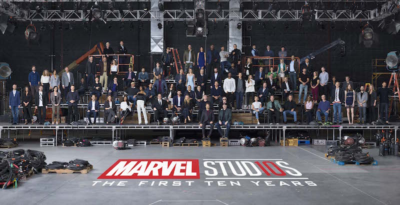 Marvel Studios the first ten years class photo