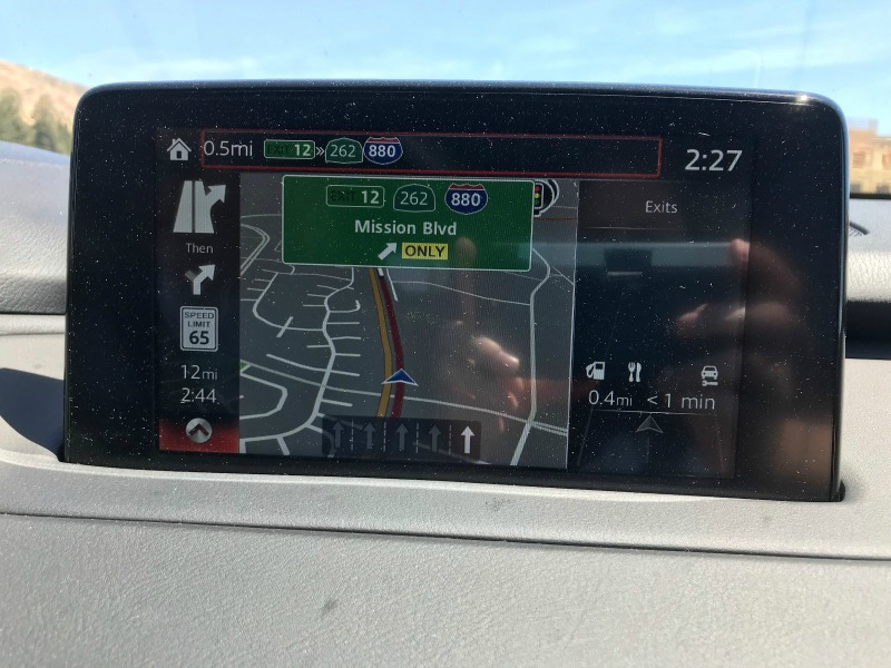 Mazda CX9 Navigation System screen
