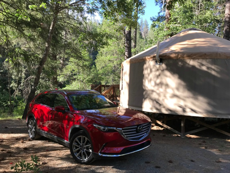 Mazda CX9 at our yurt at Yosemite National Park
