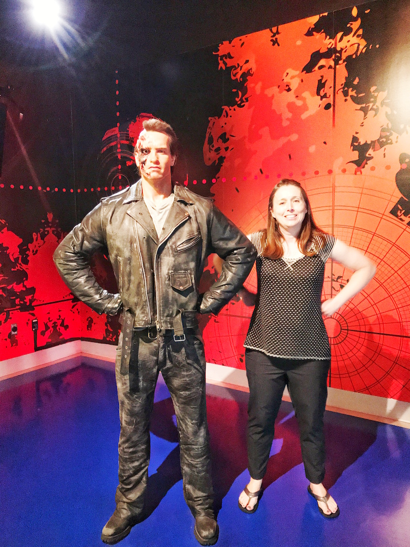 Terminator Wax Figure at Madame Tussauds Hollywood