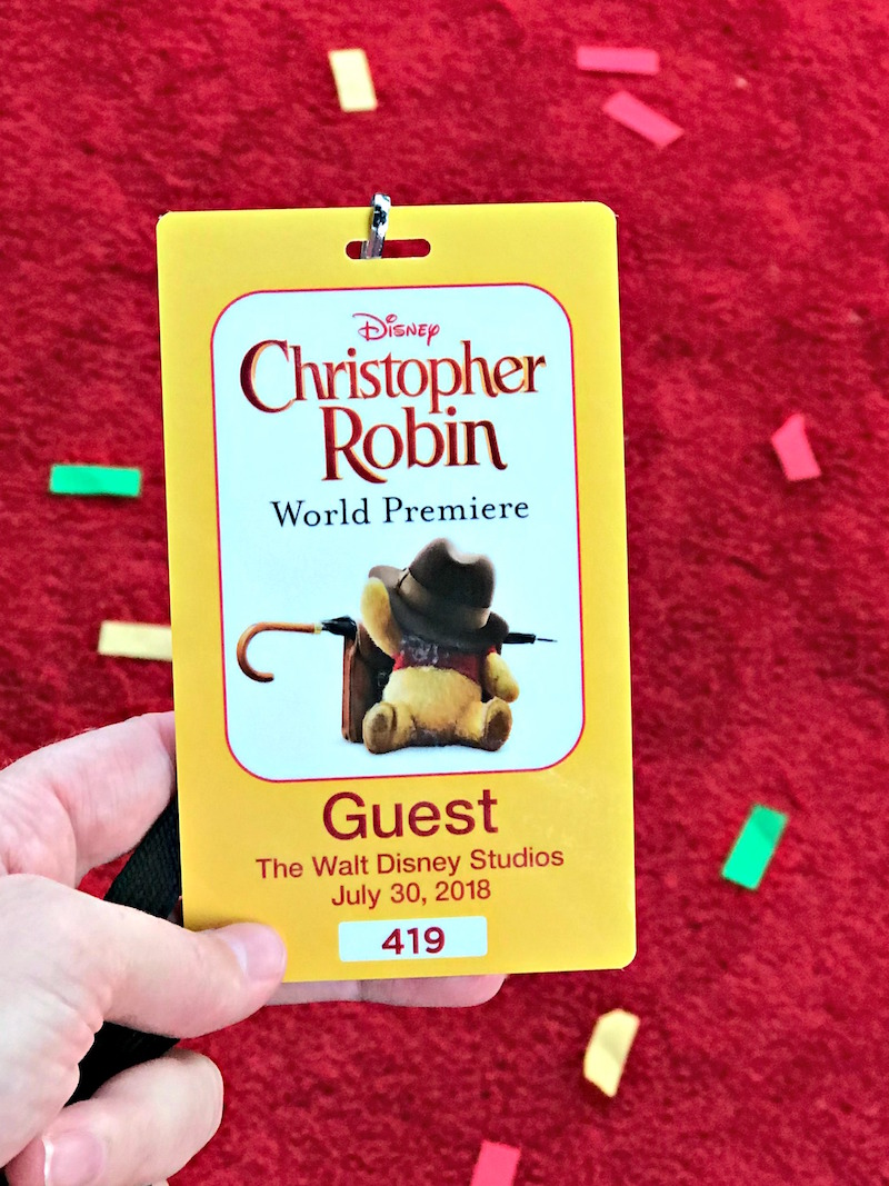 Walking the Christopher Robin red carpet at Walt Disney Studios