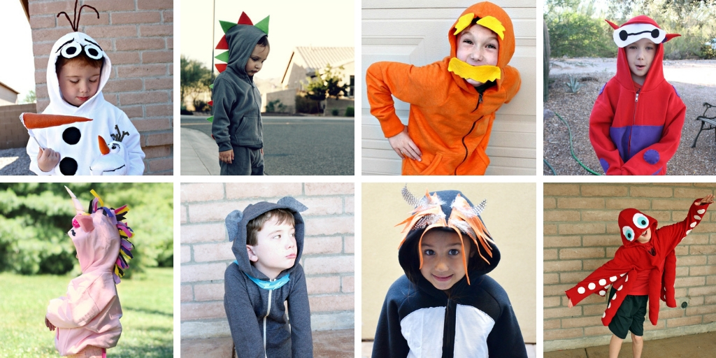 DIY Costume Hoodies for Halloween or cosplay