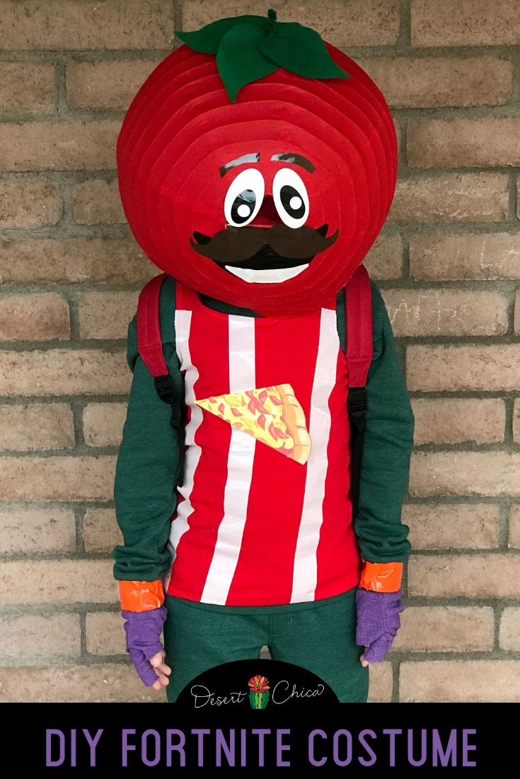 How to make a DIY Fortnite Costume perfect for kids, girls or boys. This homemade tomato head costume is a perfect idea for Halloween or cosplay.