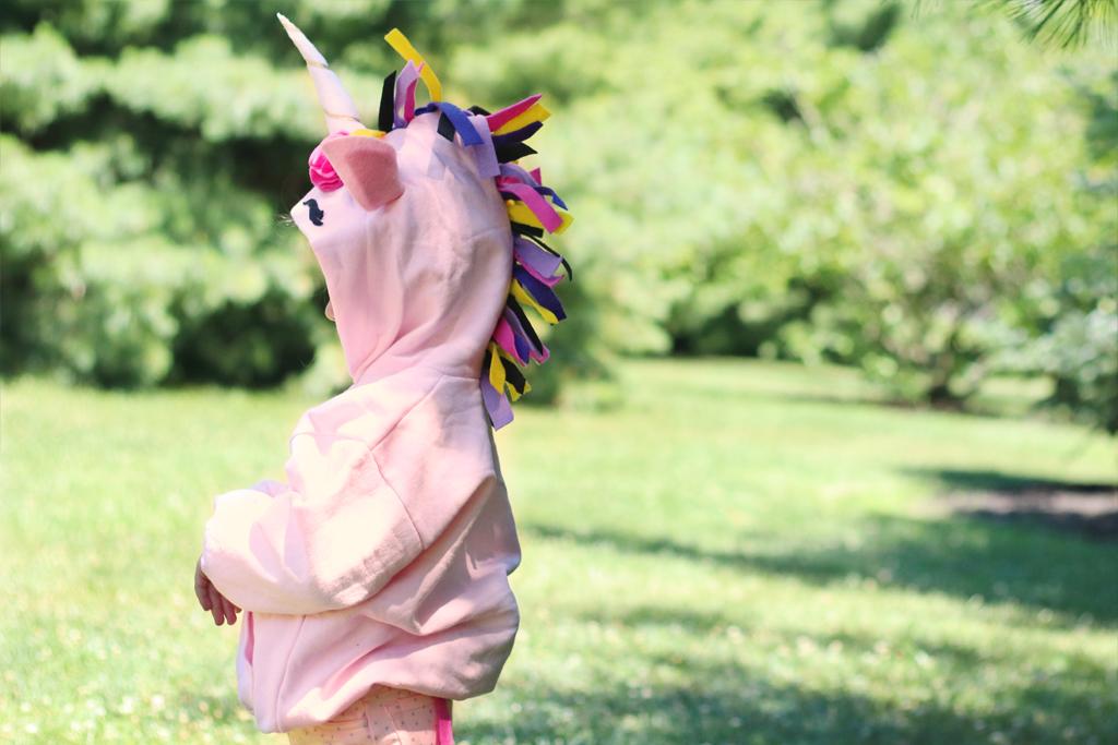 DIY hoodie costumes including a unicorn hoodie