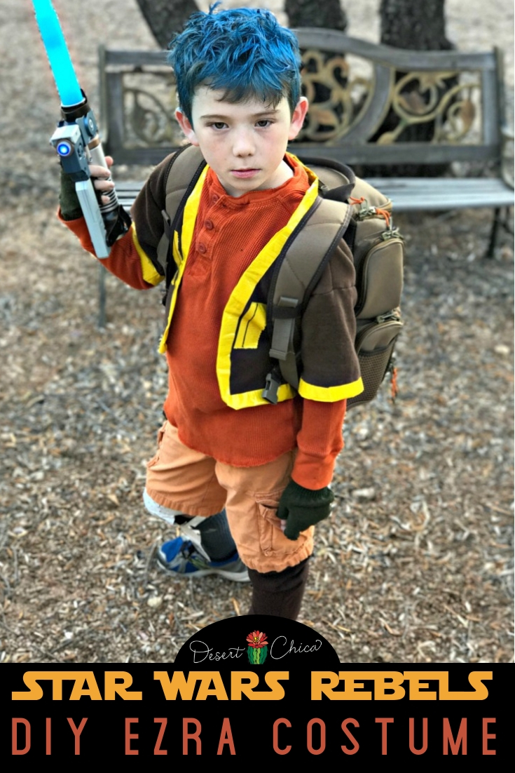 Cute Star Wars Rebels Ezra Bridger DIY Costume and Cosplay Outfit for Halloween #StarWars #DIY #Cosplay #Costume