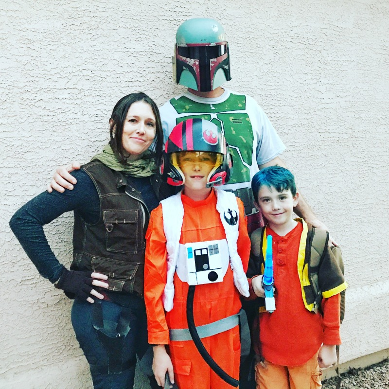 Star Wars Halloween costumes including ezra bridger, poe dameron and jyn erso
